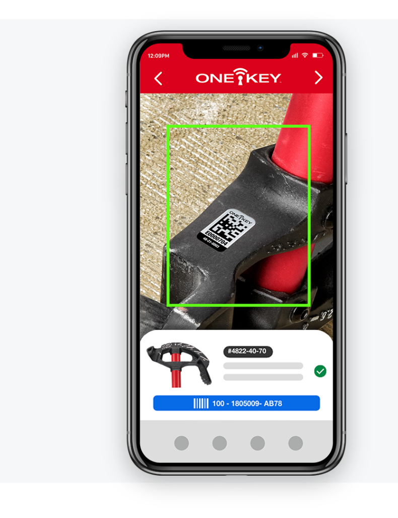 iphone scanning One-Key asset ID tag